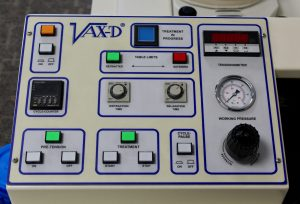 VAX-D table control panel