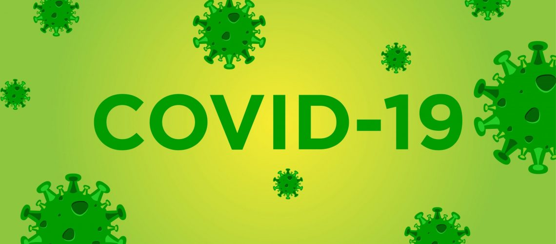 COVID-19 vector design template concept background
